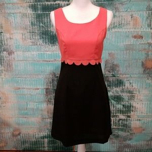 Ezra (Stitch Fix) Coral and Black Dress